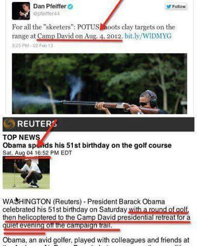 Obama scandal - see dates