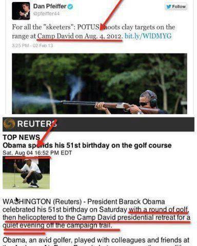 Obama scandal - see dates