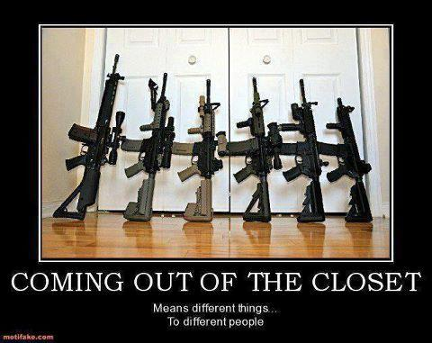 Guns out of the closet