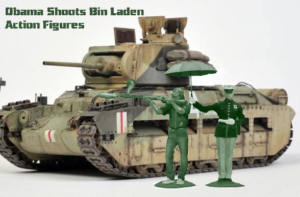 Obama shoots bin Laden action figures