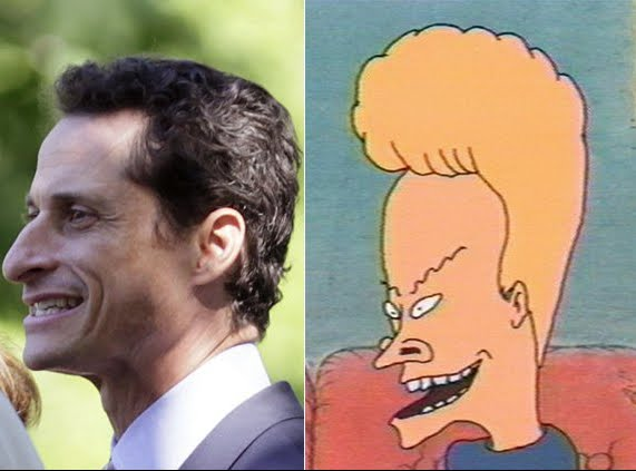 Separated at Birth - Anthony Weiner and Beavis