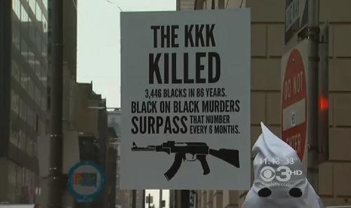 black-man-kkk-outfit-placard