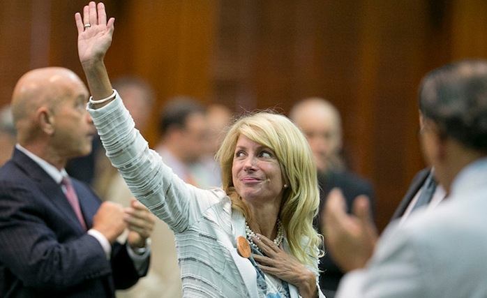 Image: Texas - Sen. Wendy Davis filibuster