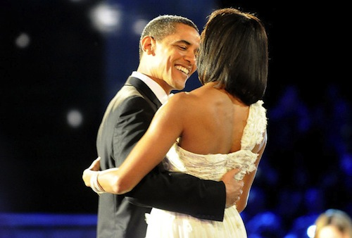 Obama and Michelle dance