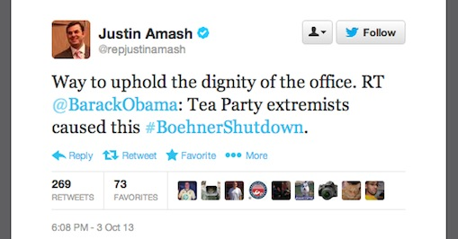 Rep. Justin Amash Tweet