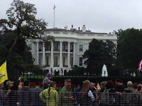 Snipers positioned on White House