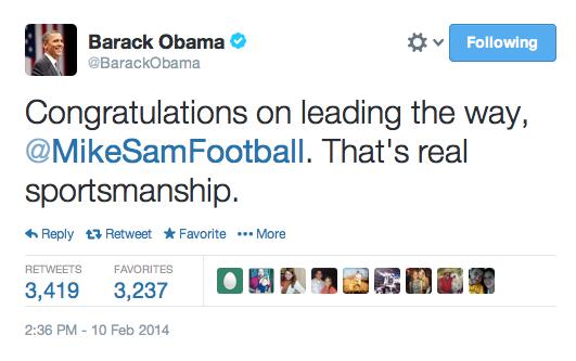 Obama Michael Sams shout out