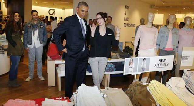 Obama At The Gap