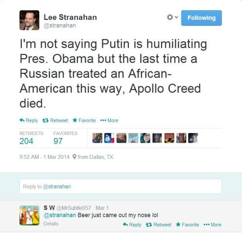 Stranahan on Obama v Putin