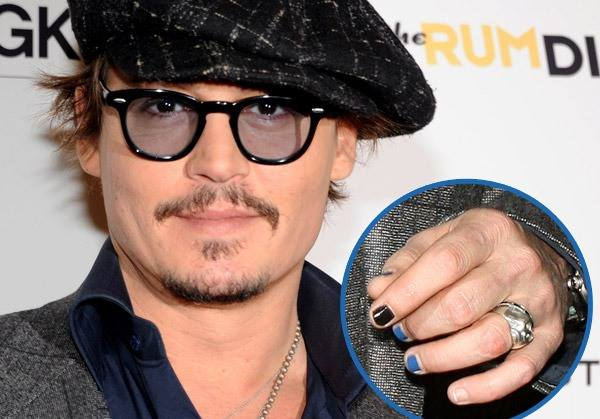 Depp with fingers painted