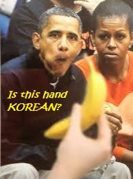 Obama eating - Korean hand