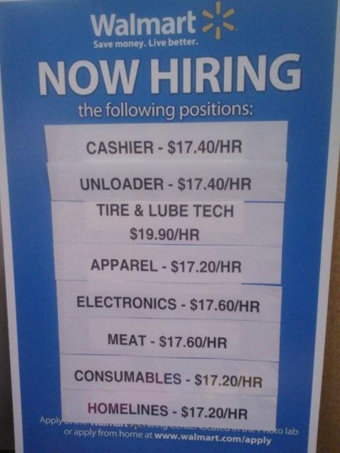 Walmart where the free market rules