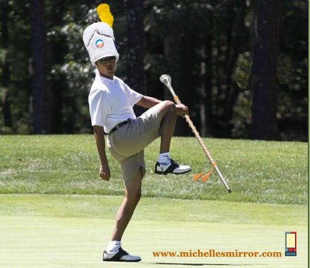 Obama majorette