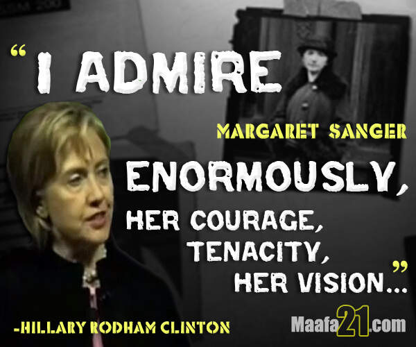 Hillary Clinton on Sanger