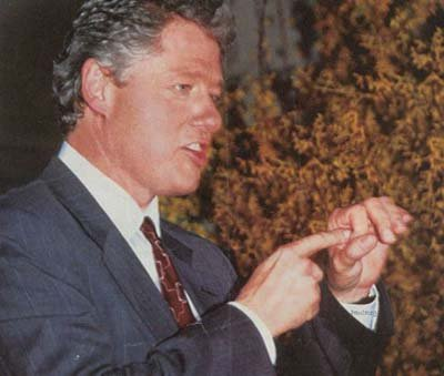 Bill Clinton showing how to properly schlong