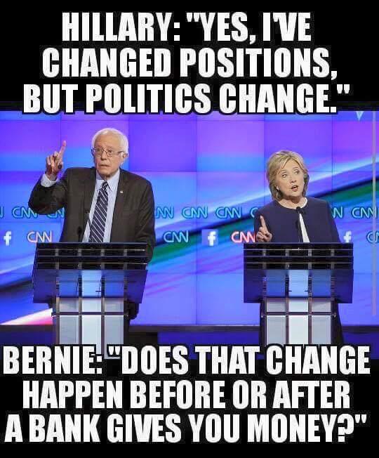 Bernie questions Hillary