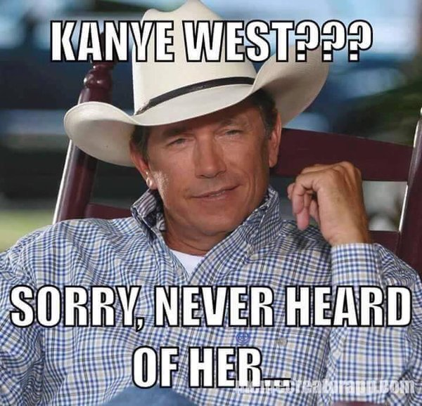 George Strait on Kanye West