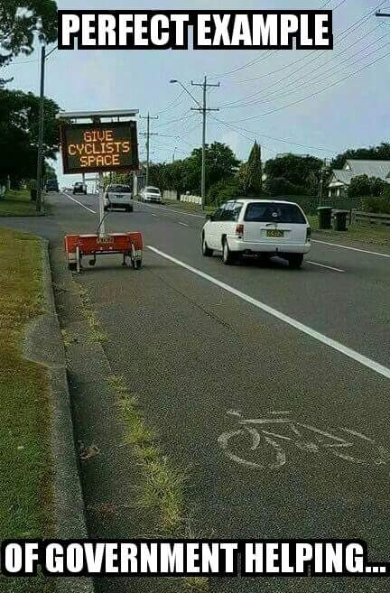 Gov't helping cyclists