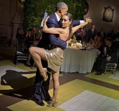 Obama doing tango Dancing with the Stars
