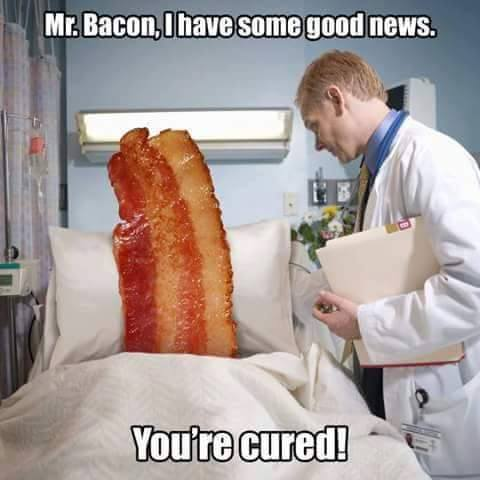 bacon cured