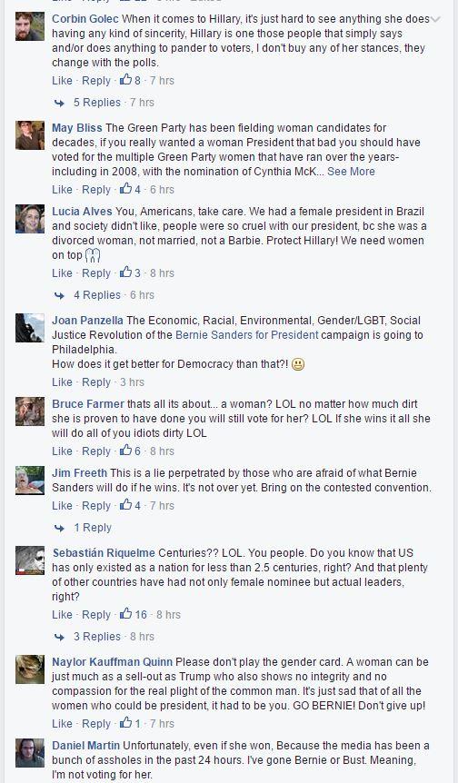 Clinton nomination comments 2