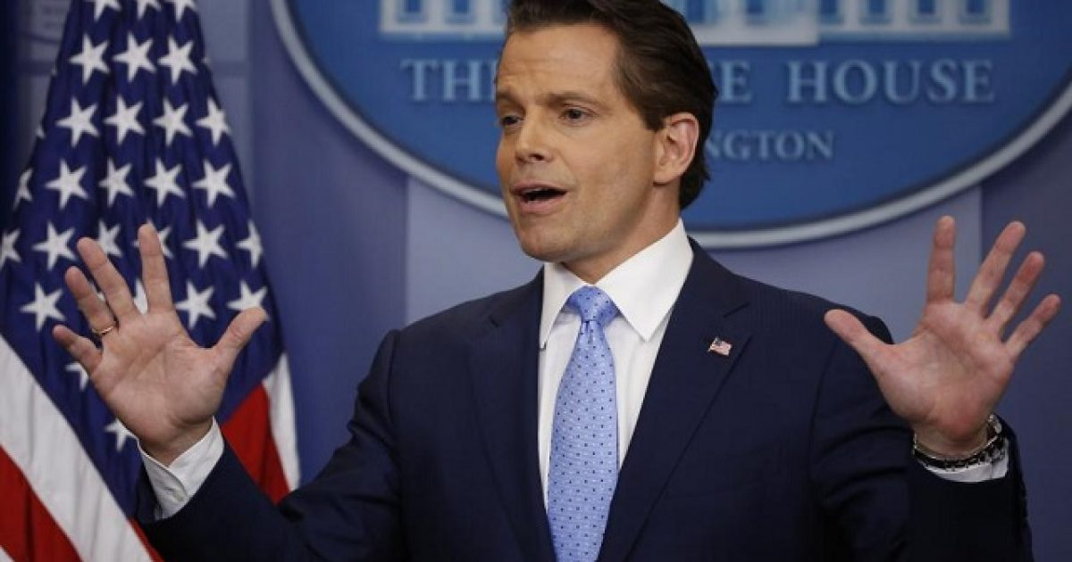 Did Scaramucci out President Trump