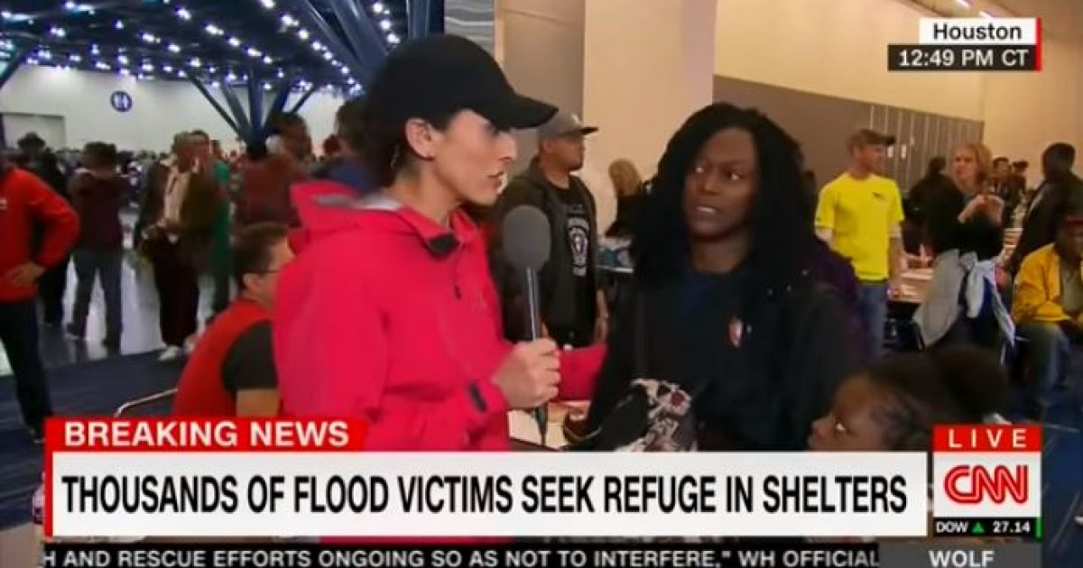 flood survivor blasts CNN