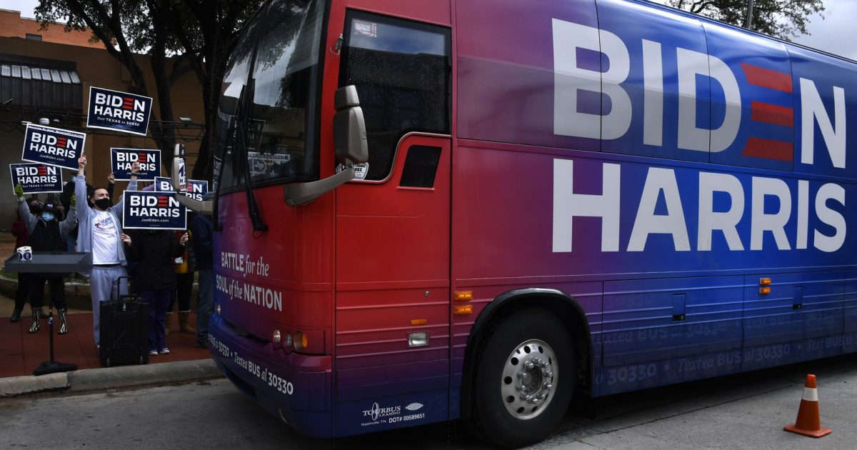 Biden, Bus, Trump train, Texas, Team KJ, Kevin Jackson