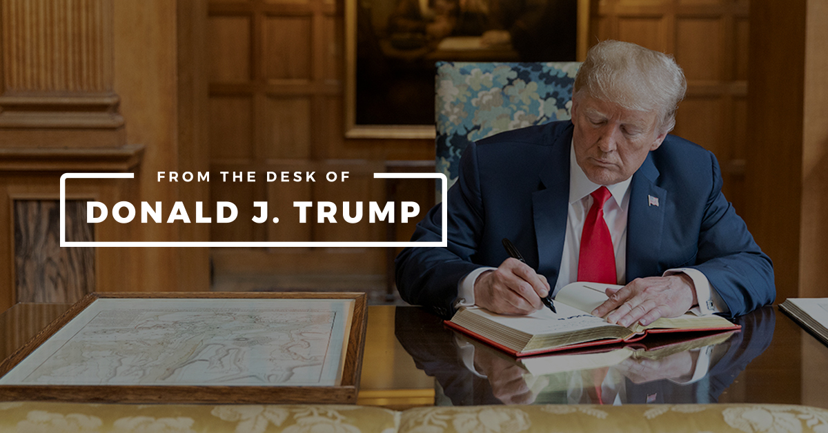Trump, desk, Kevin Jackson