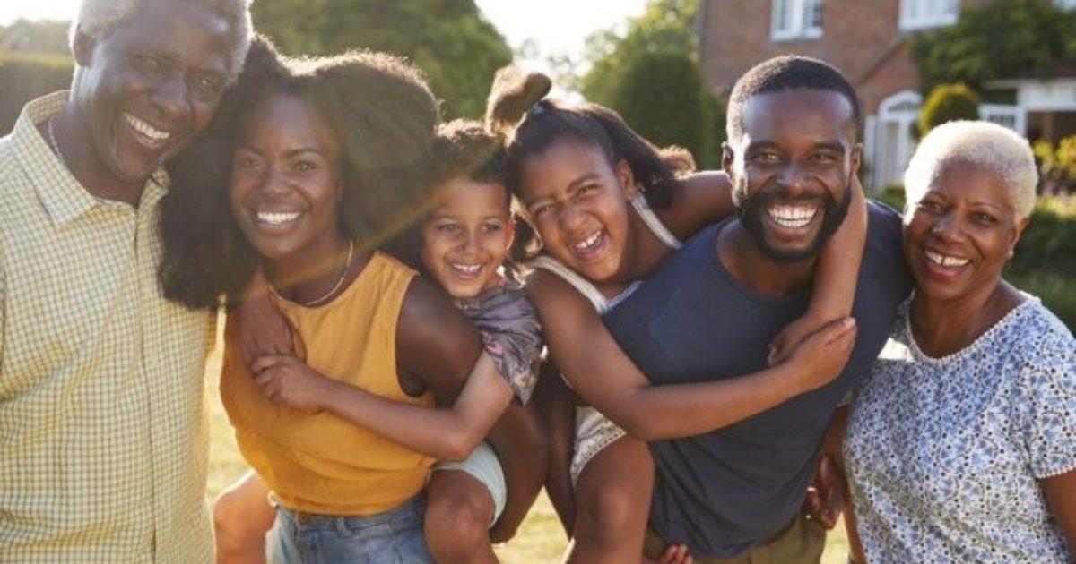 black, family, diversity
