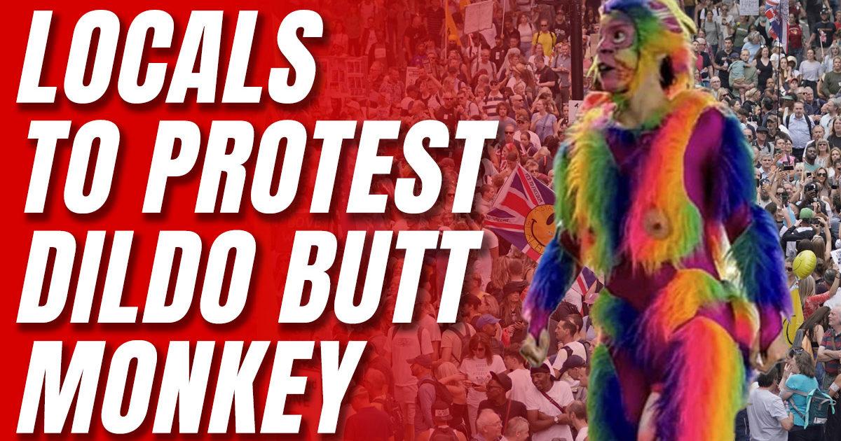 rainbow dildo butt monkey, Kevin Jackson