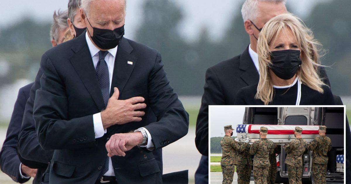 Biden, soldiers, caskets, Kevin Jackson