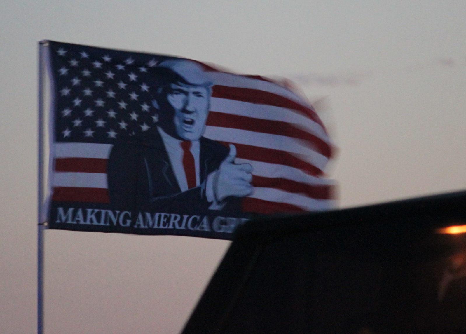 Trump, flag, Texas, Kevin Jackson